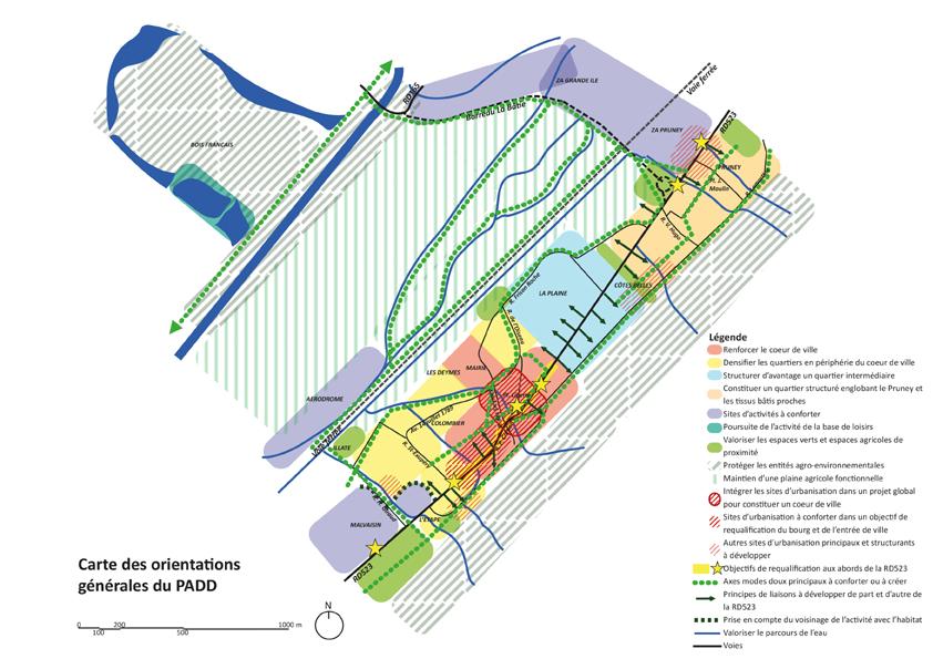 Carte des orientations du PADD